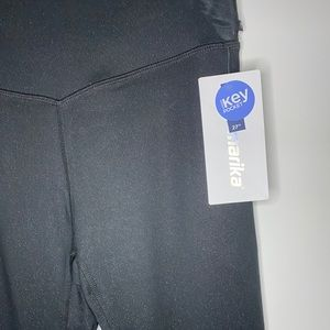 Marika Black Sparkle Leggings Size L